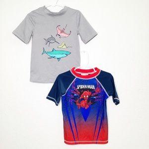 Boys 4T Swim Rash Guard Shirts Lot Of 2